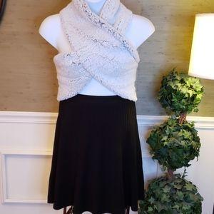 Nanett Lepore Black Knit Skirt